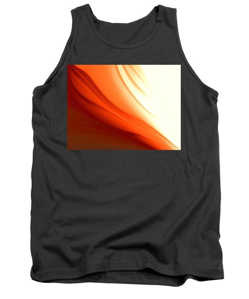 Tank Top featuring the digital art Glowing Orange Abstract by Gabriella Weninger - David