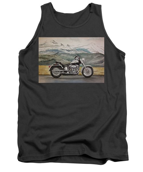 Tank Top featuring the painting Fatboy by Rachel Hames