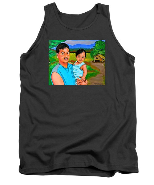 Tank Top featuring the painting Father And Son by Cyril Maza