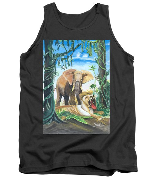 Faune D'afrique Centrale 01 Tank Top by Emmanuel Baliyanga