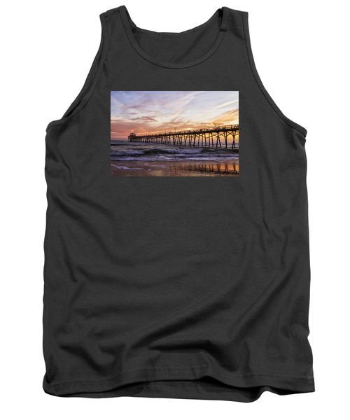 Tank Top featuring the photograph Febuary Sunset On Atlantic Beach by Bob Decker