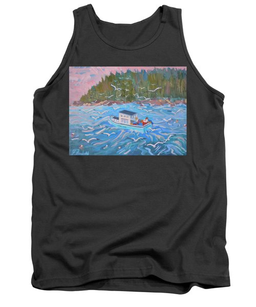 Tank Top featuring the painting Feeding The Flock by Francine Frank