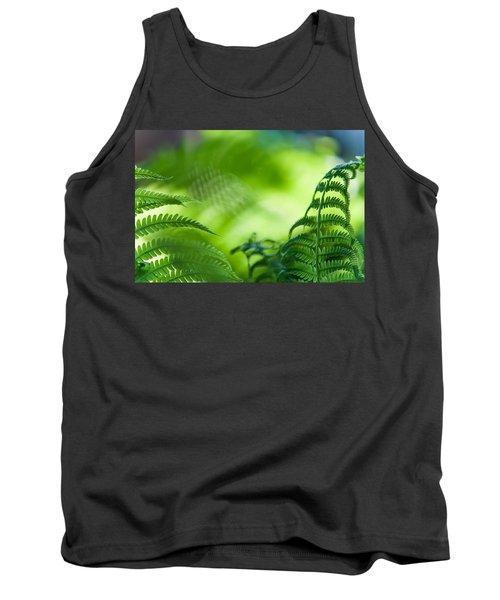 Fern Leaves. Healing Art Tank Top