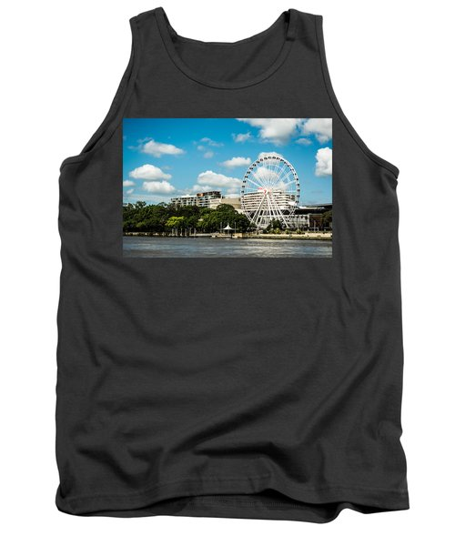 Ferris Wheel On The Brisbane River Tank Top