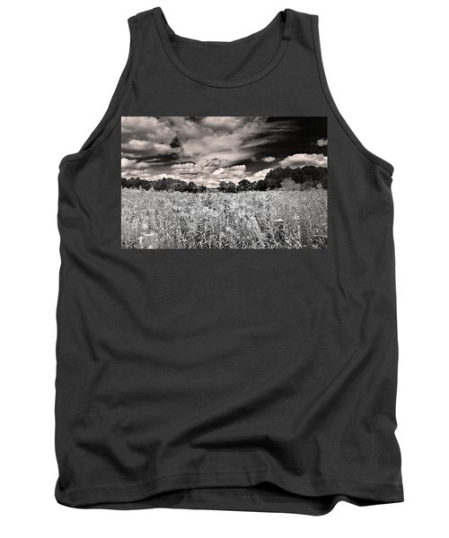 Fields Of Gold And Clouds Tank Top by Mitchell R Grosky