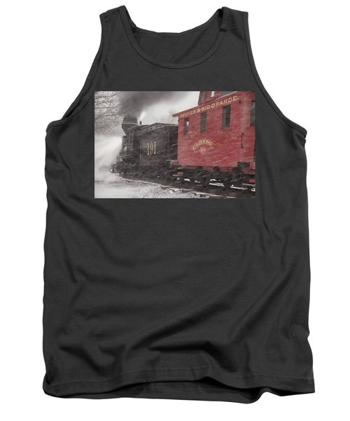 Fighting Through The Winter Storm Tank Top by Ken Smith