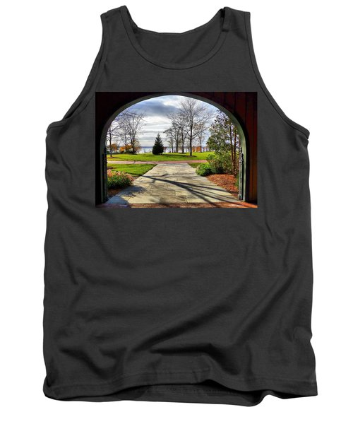 Tank Top featuring the photograph Finger Lakes View From Mackenzie Childs  by Mitchell R Grosky