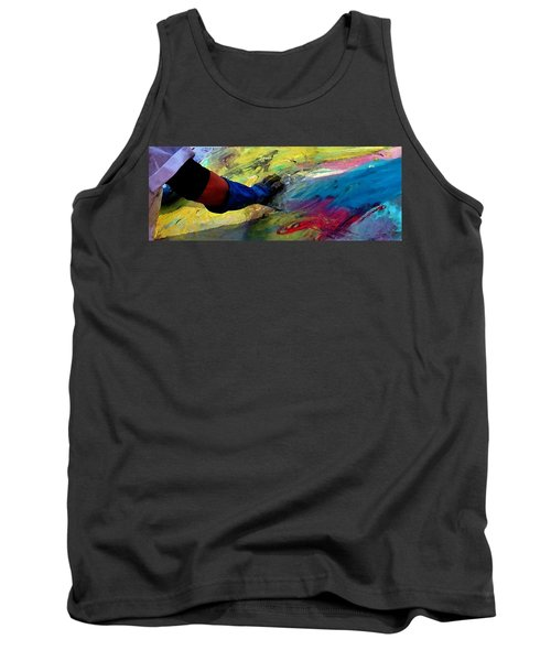 Tank Top featuring the painting Fingerpainting by Lisa Kaiser