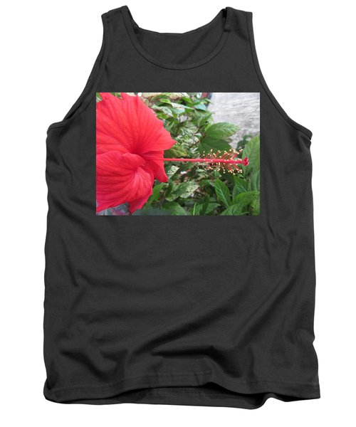 Fire And Ice Hibiscus Tank Top