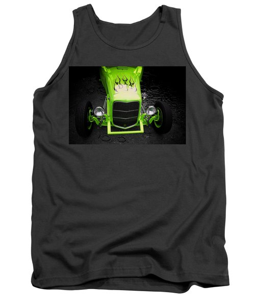 Hot Rod Tank Top featuring the photograph Fire And Water Green Version by Aaron Berg