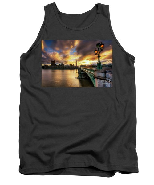 Fire In The Sky Tank Top by Yhun Suarez