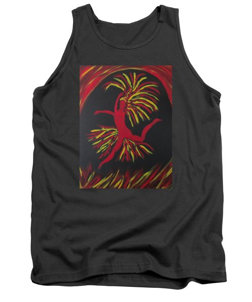 Tank Top featuring the painting Firebird by Sharyn Winters