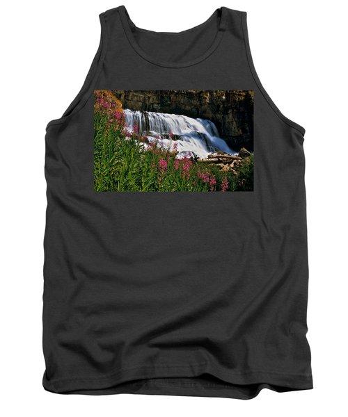 Fireweed Blooms Along The Banks Of Granite Creek Wyoming Tank Top