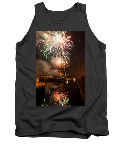 Fireworks Exploding Over Salem's Friendship Tank Top by Jeff Folger