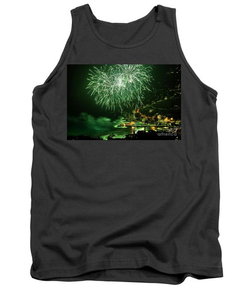 Tank Top featuring the photograph Fireworks Hdr by Antonio Scarpi