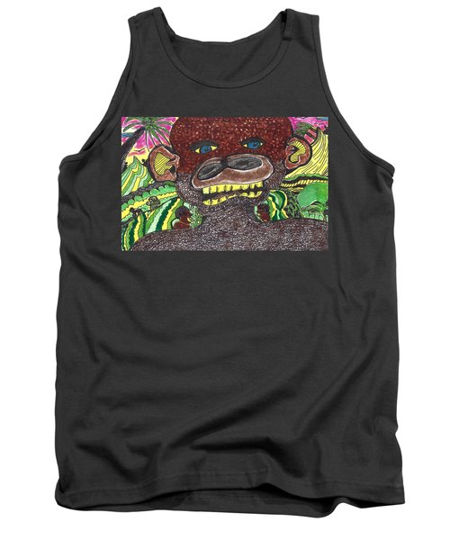 Tank Top featuring the drawing First Jungle by Don Koester
