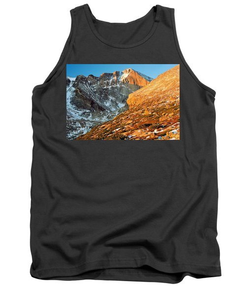 First Light At Longs Peak Tank Top by Eric Glaser