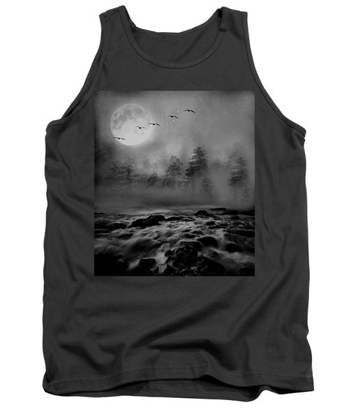 Tank Top featuring the photograph First Snowfall Geese Migrating by Andrea Kollo