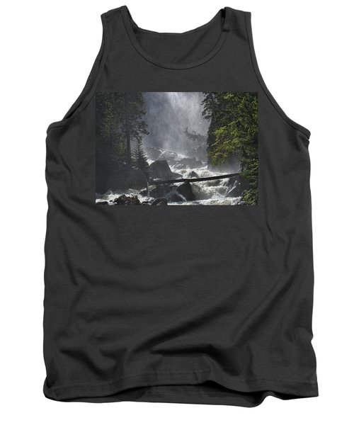 Tank Top featuring the photograph Fish Creek Mist by Don Schwartz