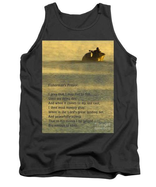 Fisherman's Prayer Tank Top by Robert Frederick