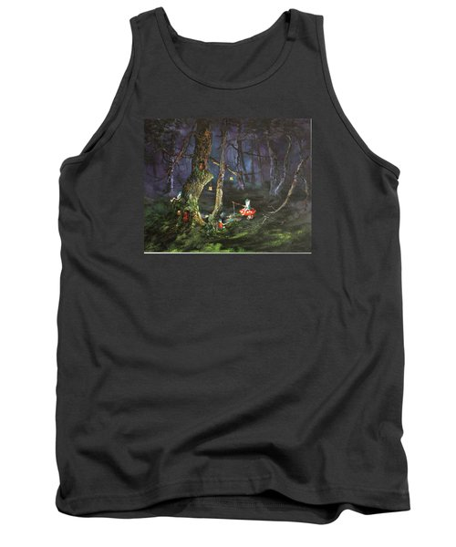 Fishing For Supper On Cannock Chase Tank Top by Jean Walker
