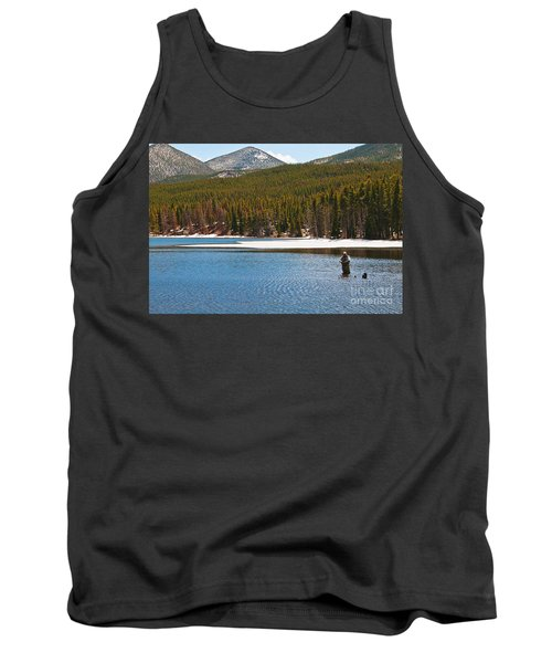 Tank Top featuring the photograph Fishing In Winter by Mae Wertz