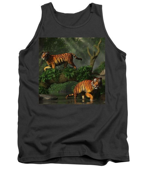 Fishing Tigers Tank Top