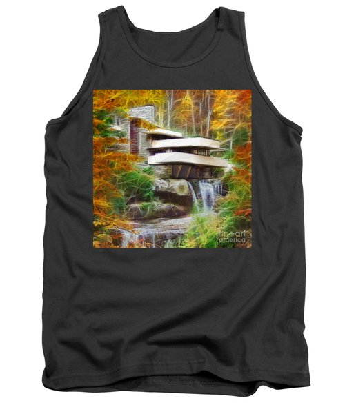 Fixer Upper - Square Version - Frank Lloyd Wright's Fallingwater Tank Top