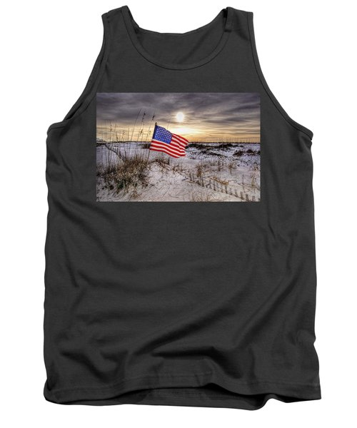 Flag On The Beach Tank Top