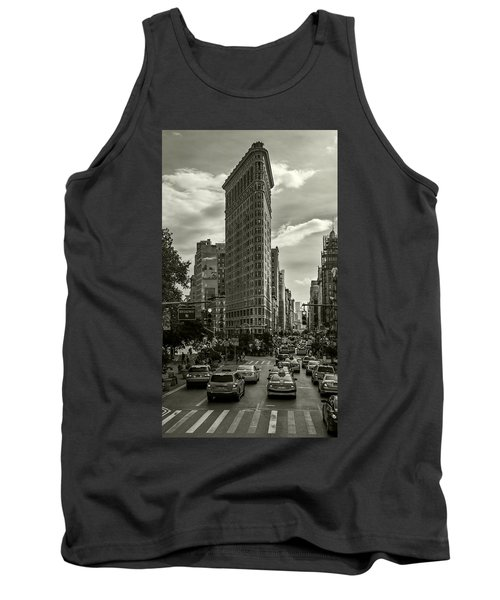 Flatiron Building - Black And White Tank Top