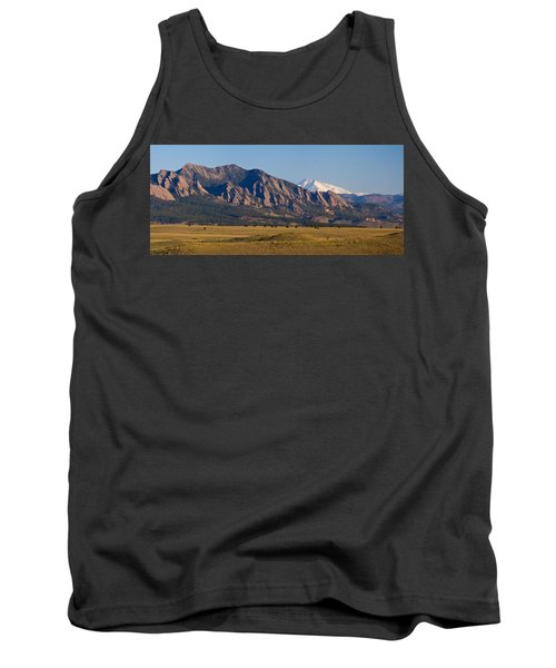 Flatirons And Snow Covered Longs Peak Panorama Tank Top by James BO  Insogna