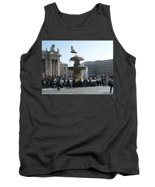 Tank Top featuring the photograph Flight And Fountain by Robin Maria Pedrero