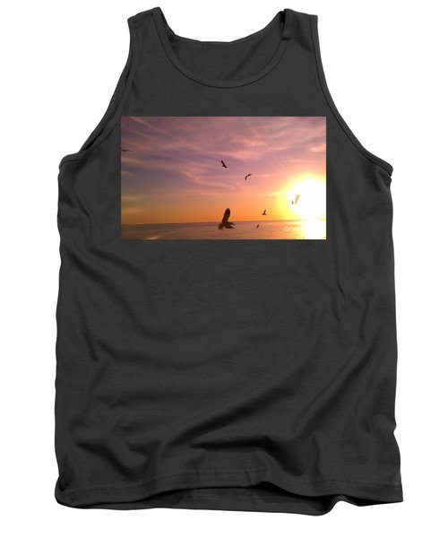 Flight Into The Light Tank Top by Chris Tarpening