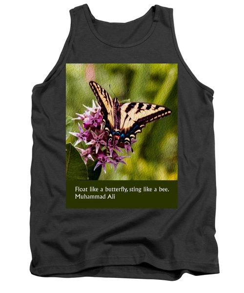 Float Like A Butterfly Tank Top