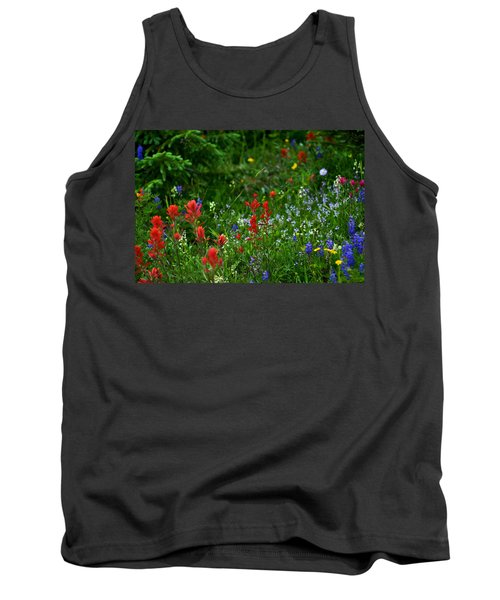 Floral Explosion Tank Top by Jeremy Rhoades