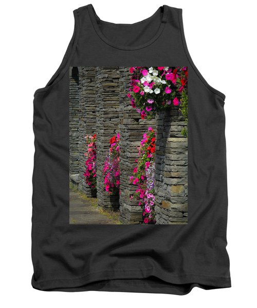 Flowers At Liscannor Rock Shop Tank Top