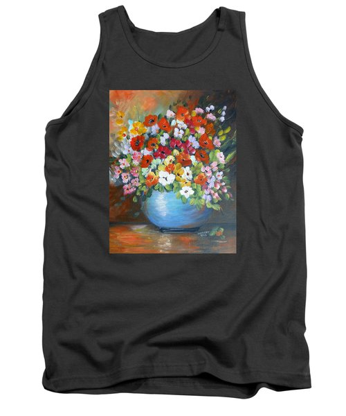 Flowers For A Friend Tank Top by Dorothy Maier