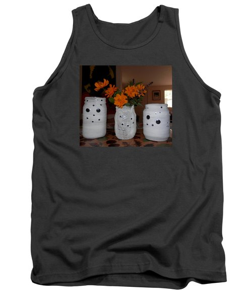 Halloween Flowers For Mummy Tank Top