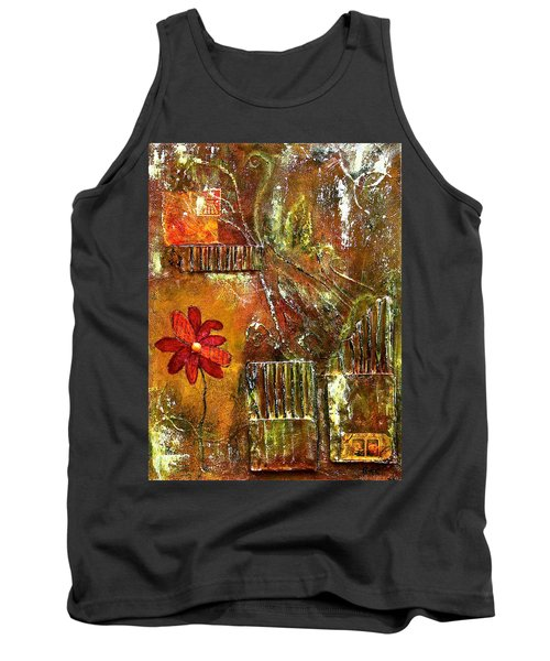 Flowers Grow Anywhere Tank Top by Bellesouth Studio