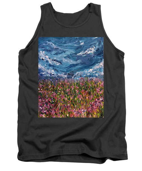 Tank Top featuring the painting Flowers Of The Field by Meaghan Troup