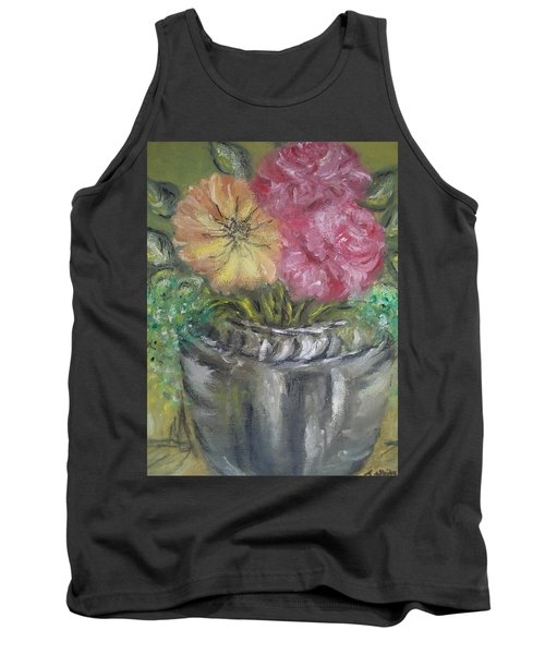Tank Top featuring the painting Flowers by Teresa White