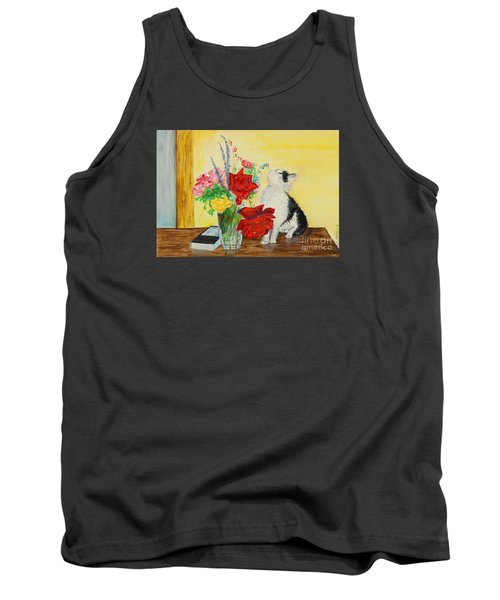 Fluff Smells The Lavender- Painting Tank Top
