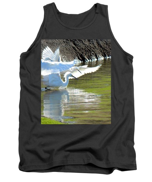 Tank Top featuring the photograph Flurry by Deb Halloran