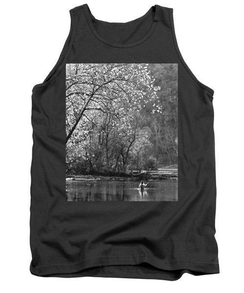 Fly Fisherwoman Bw Tank Top