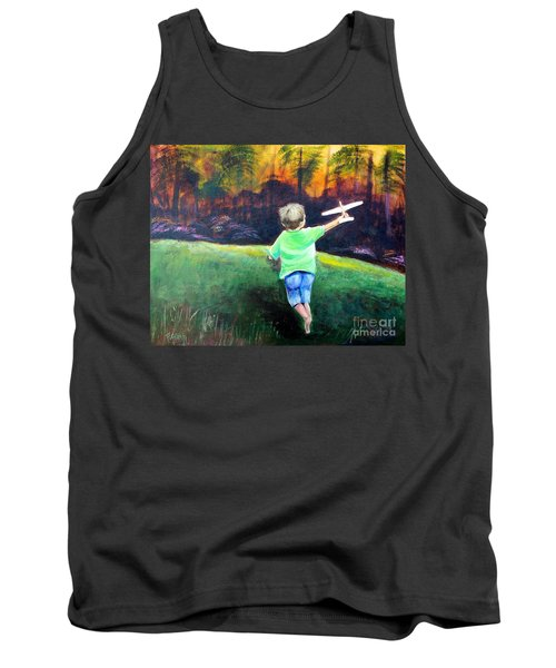 Tank Top featuring the painting Flying High by Patricia Piffath