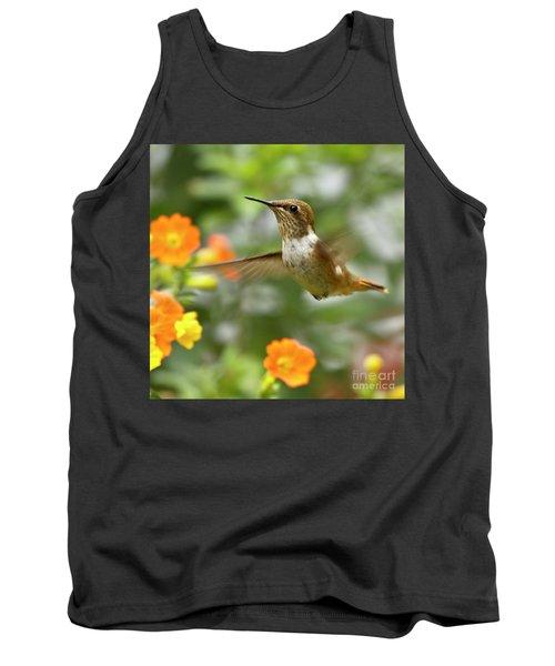 Flying Scintillant Hummingbird Tank Top
