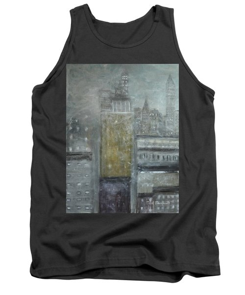 Fog Covered City Tank Top