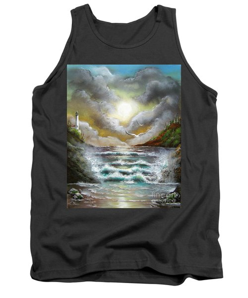 Tank Top featuring the painting Follow The Wind by Patrice Torrillo