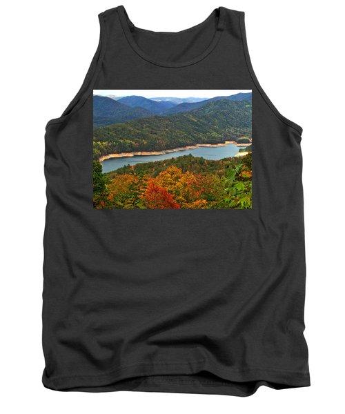 Fontana Lake In Fall Tank Top