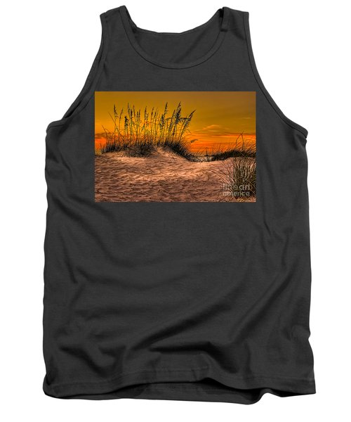 Footprints In The Sand Tank Top by Marvin Spates